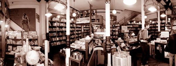 Panorámica de librería